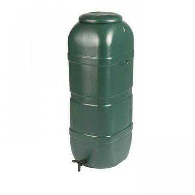 Ward Slimline Green Plastic Water Butt with Lid and Tap - 100 Litre GN334