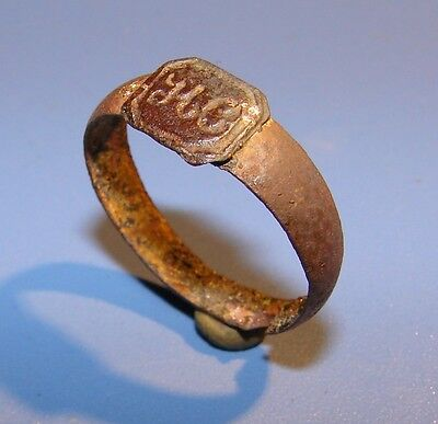 Ancient bronze ring  Middle Ages original