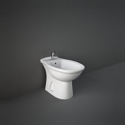 White Ceramic Bidet Modern Back To Wall Floor Mounted Bathroom BTW