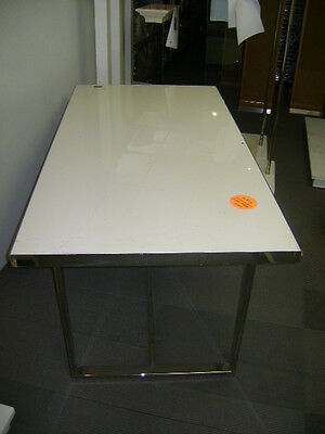 Retail White & Chrome Display Table