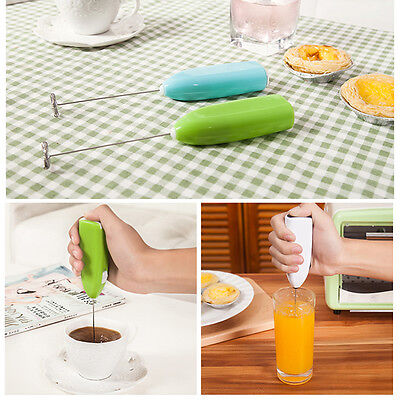 Mini Egg Beater Electric Hand-held Milk Coffee Frother Mixer Kitchen Foamer Tool