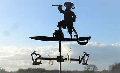 Standard Pirate Metal Weathervane (Vertical Fixing Bracket)