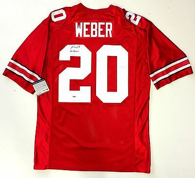 db8eac73390 Mike Weber Signed Ohio State Buckeyes Nike Jersey Psa/dna Rookie Graph Coa