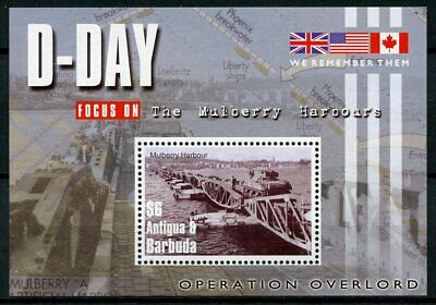 Antigua & Barbuda 2004 MNH D-Day 60 Operation Overlord 1v S/S II Mulberry Stamps