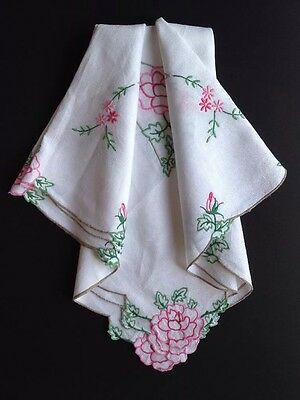 Vintage Tablecloth - Colourful Cut Out Embroidery