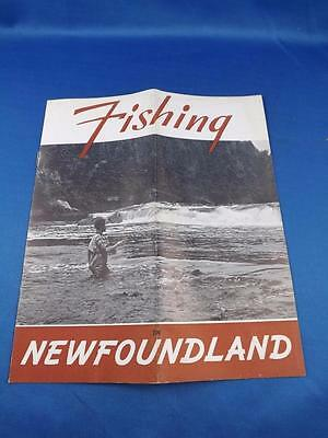 Fishing In Newfoundland Travel Information Booklet Salmon Trout Swordfish Map