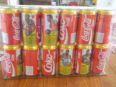 1994 Always Jamm'in NBL Coke Collector Cans - Complete Set, Empty but Sealed top
