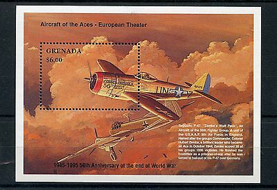 Grenada 1995 MNH WWII VE Day 50th End World War II 1v S/S Fighter Planes Stamps