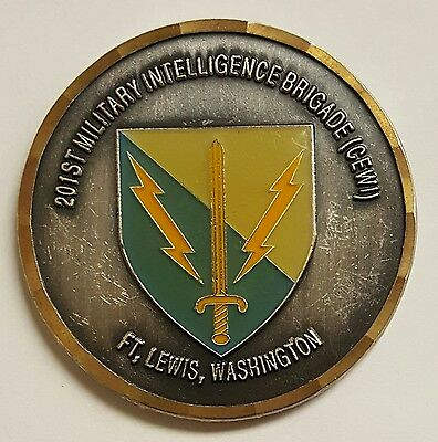 US ARMY 201ST Military Intelligence Brigade (CEWI) Fort Lewis Coin Of  Excellence