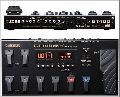 New Boss GT-100 V. 2.0 Flagship COSM Guitar Effects Processor Stage & Studio