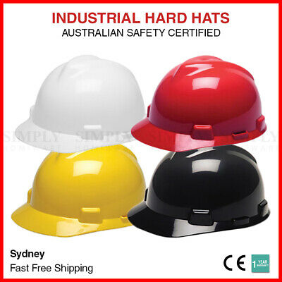 Safety Hard Hats Helmet Protective Cap Yellow Industrial Work Aus Certified