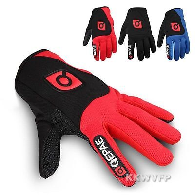 2017 Winter Adult Mesh Full Finger Gel Mountain Bicycle Cycling Bike Gloves M-XL