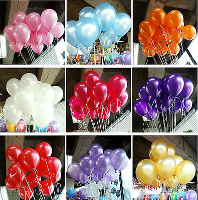 50/100pcs 10'' Colorful Pearl Latex Balloon Celebration Party Wedding Birthday