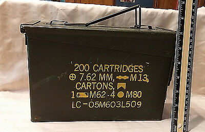 USGI 7.62mm AMMO CAN M13 200 ROUNDS METAL LARGE AMMO CAN EXCELLENT