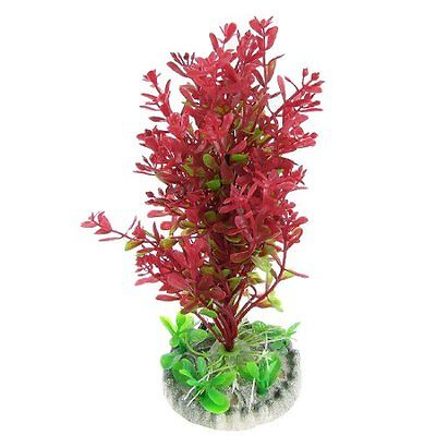 Sourcingmap Plastic Fish Tank Emulational Plants Grass, 7.5-inch, Red  Green