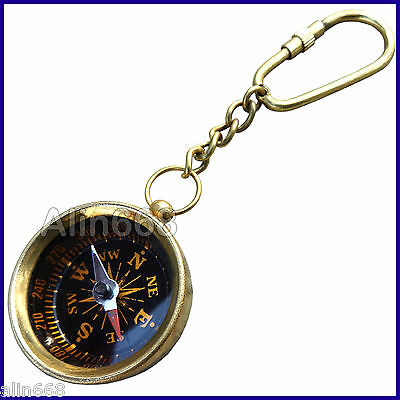 Brass Compass For Key Chains Bulk Pocket Compass Key Ring Wholesale Lot Of 10 Pc Maritime