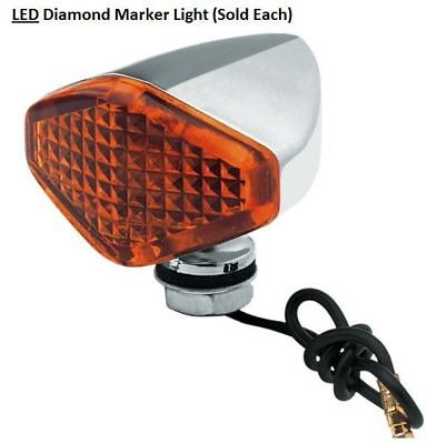 Marker Light Diamond Style L.E.D With Amber Len Sold Each fits Harley Davidson