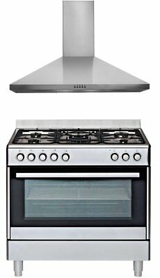 NEW Euromaid GEAOL90PK Dual Fuel Oven/Stove & Rangehood
