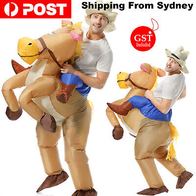 New 1X Inflatable Horse Cowboy Suit Halloween Fun Fancy Dress Costume Unisex