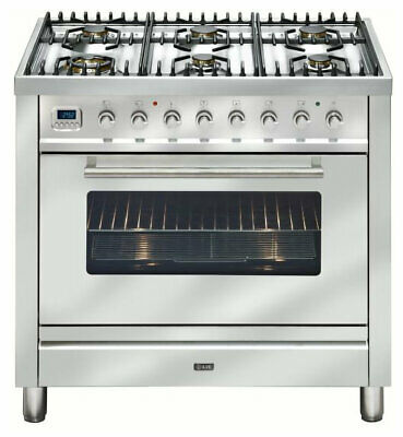 NEW Ilve NT906WMPSS Freestanding Dual Fuel Oven/Stove