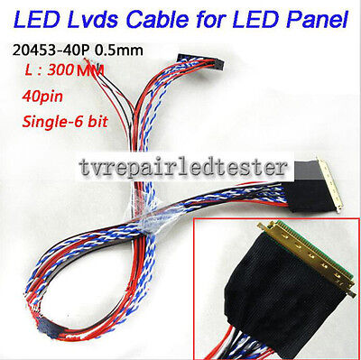 I-PEX 20453-20455 40Pin LVDS Cable for  Chimei N173FGE-L23 N173FGE-L21 40 Pins
