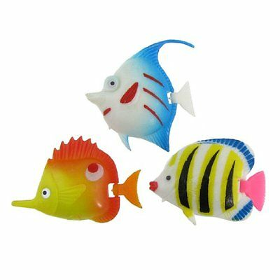 sourcingmap Plastic Fish Tank Swimming Tropical Fishes, 3 Pieces, Multicolor