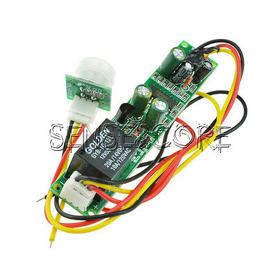 New DC 12V 5A IR Pyroelectric Infrared PIR Motion Sensor Detector Module