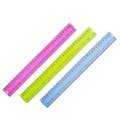 "12"" 30cm Super Flexible Ruler Rule Measuring Tool Stationery New"