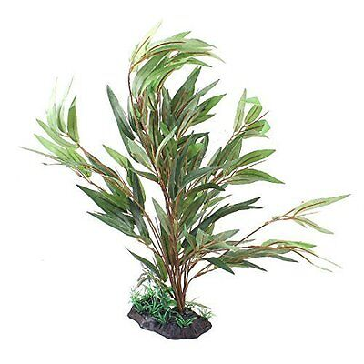 sourcingmap Fabric Grass Artifical Water Plant Aquarium Decoration 16.5-inch Gre