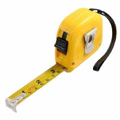 Retractable Steel Measure Tape Ruler 191 Inches 16 Feet 5M x 19mm Yellow