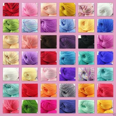 30colors Soft Bamboo Knit Crochet Knitting Yarn Baby Cotton Wool Yarn 50g Hot