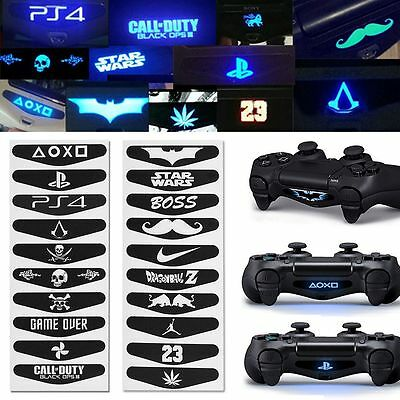 10PCS Led Light Bar Decal Sticker 2 Type New For PlayStation 4 PS4 Controller