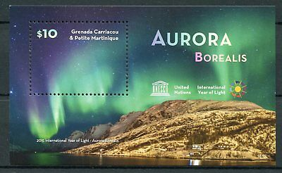 Grenadines Grenada 2015 MNH UN UNESCO Int Year of Light Aurora Borealis 1v S/S