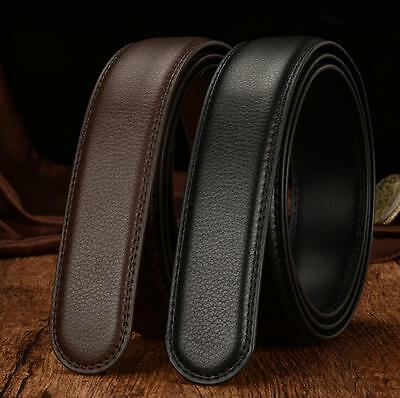 Luxury Mens Leather Automatic Strap Belt No Buckle Waist Strap Black/Brown New !