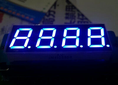 10pcs 0.8 inch 4 digit led display 7 seg segment Common cathode 阴 blue SR640801B