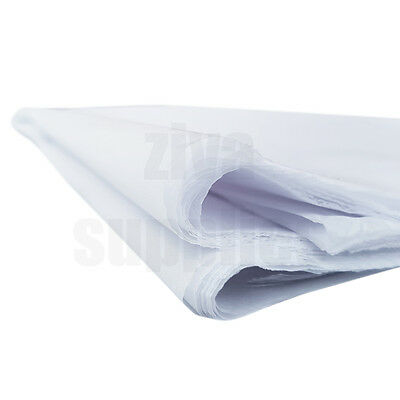 (White) TISSUE PAPER SHEETS Acid Free 500mm x 750mm 17gsm Pack Gifts Wrapping