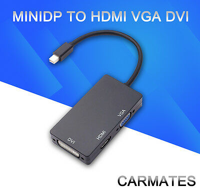 Mini DisplayPort to DVI VGA HDMI Adapter for Macbook Air Pro/Surface Pro 2 3 OZ
