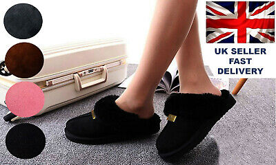 Geniune GCG Ladies Faux Sheepskin Slippers Mules Non Slip Hard Sole Womens