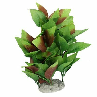 10  Height Aquascaping Green Brown Fabric Plastic Plant for Aquarium Tank