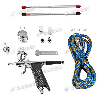 SP166AK Single-Action Trigger Airbrush Control Air Brush Spray Gun Paint Art
