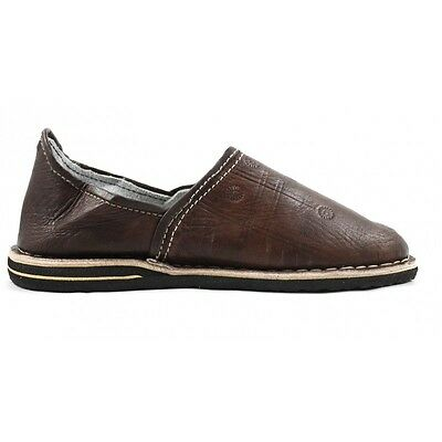 Berber Slippers made of brown leather - moroccan slippers / Pantoufle / Mules