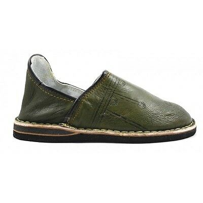 Berber slippers made of Khaki leather - moroccan slippers / Pantoufle / Mules