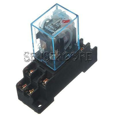 12V DC/220V AC Spule Power Relay Relais LY2NJ DPDT 8PIN HH62P Socket Base