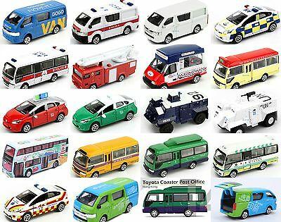 Tiny Hong Kong Toyota Prius Police Diecast Car Ladder Fire Engine Ice Cream Van