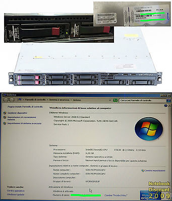 Hp Proliant Dl320 G6 Server -  Windows Server 2008 R2 Standard 6Gb Xeon E5630