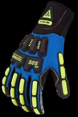 NEW Aramtec 505GP / GP505 Protective Impact Gloves, Oil &Water Resistant, Size L