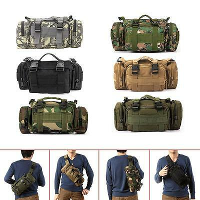 Tactical Military Waist Pack Shoulder Outdoor Bag Cool Camping Hiking Utility