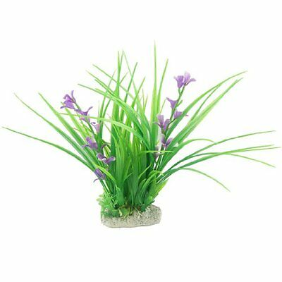 Sourcingmap Plastic Fish Tank Emulational Plant Grass Decor, Green  Purple