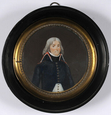 "Francois Louis Joseph Delecour ""Chef de Bataillon of Engineers"",miniature, 1797"