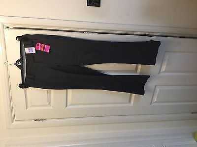 Marks  & Spencers Grey Bootleg Trousers With Adjustable Waist  Age 13Yrs Freepos